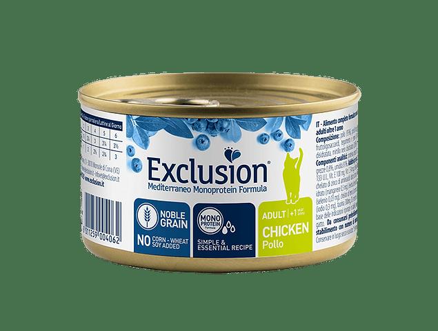 Lata Exclusion Noble Grain Frango Gato Adulto 85g
