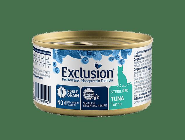 Lata Exclusion Noble Grain Atum Gato Esterilizado 85g