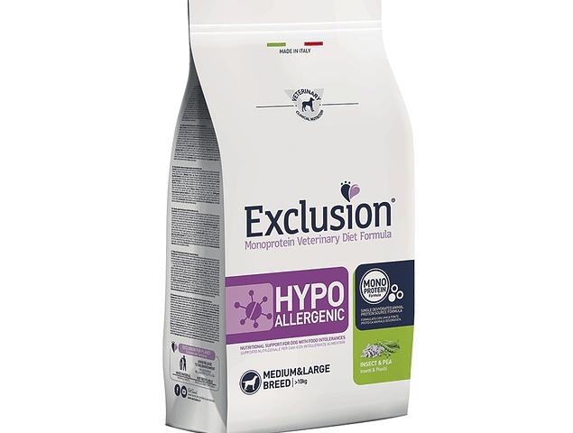 Exclusion Hypoallergenic Inseto e Ervilha Médio/Grande 12Kg