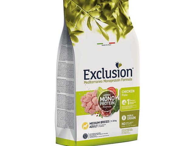 Exclusion Noble Grain Frango Adulto Médio 12Kg