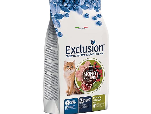 Exclusion Noble Grain Frango Gato Esterilizado 1,5Kg