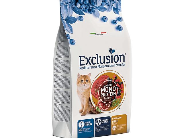 Exclusion Noble Grain Beef Gato Esterilizado 12kg