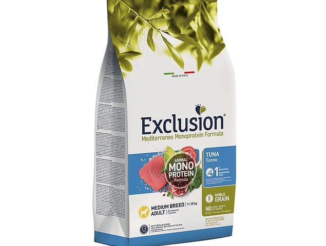 Exclusion Noble Grain Atum Adulto Médio 12Kg