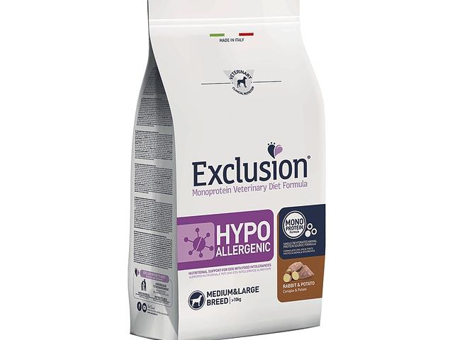 Exclusion Hypoallergenic Coelho e Batata Médio/Grande 12Kg