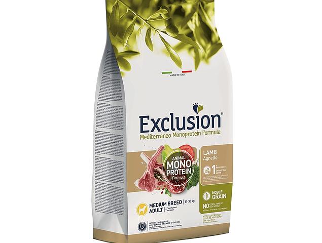 Exclusion Nobre Grain Borrego Adulto Médio 12Kg