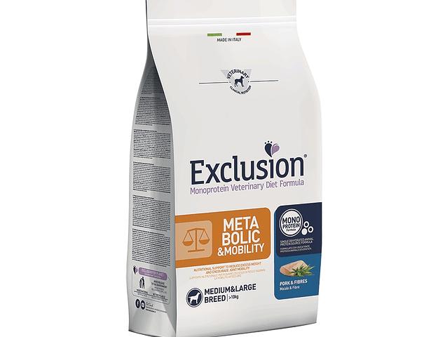 Exclusion Metabolic&Mobility Porco e Fibras Médio/Grande 12Kg