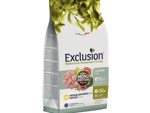 Exclusion Noble Grain Frango Mature Médio/Grande 12Kg