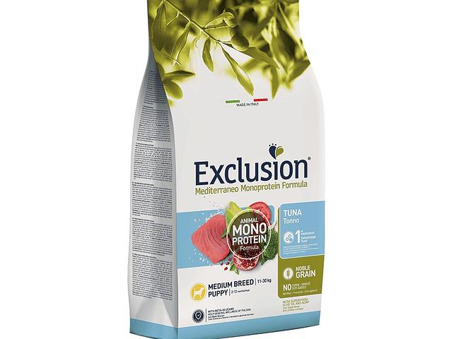 Exclusion Noble Grain Atum Cachorro Médio 12Kg