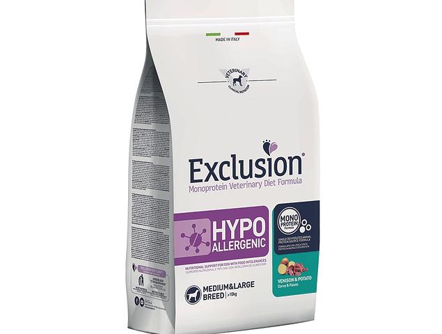 Exclusion Hypoallergenic Veado e Batata Médio/Grande 12Kg
