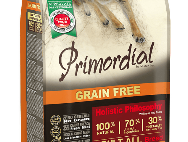 Primordial Grain Free Búfalo e Cavala 2kg