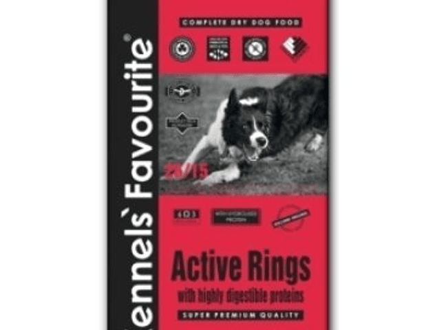 RAÇÃO KENNELS' FAVOURITE SUPER PREMIUM ACTIVE RINGS 20KG