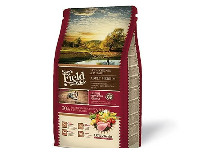 Sam's Field Low Grain Frango e Batata Adulto Médio 2,5Kg