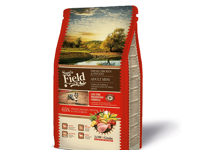 Sam's Field Low Grain Frango e Batata Adulto Mini 2,5Kg