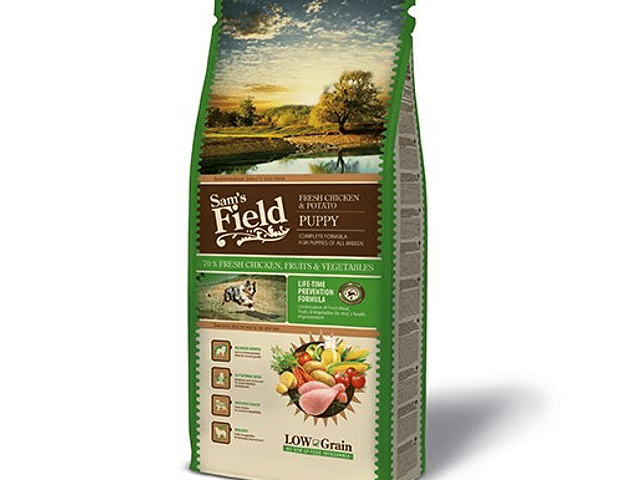 Sam's Field Low Grain Frango e Batata Cachorro 13Kg