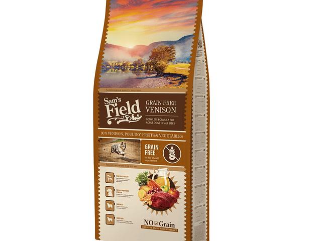 Sam's Field Grain Free Veado 13Kg + OFERTA 1 un PRO-VET ÓLEO SALMÃO 500ML