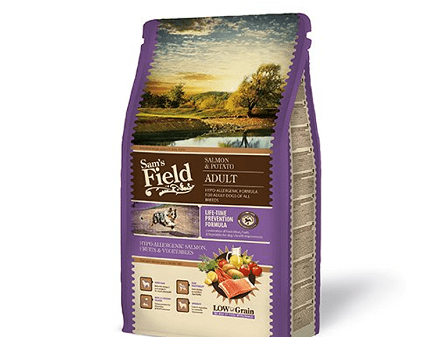 Sam's Field Low Grain Hypoallergenic Salmão e Batata 2,5Kg