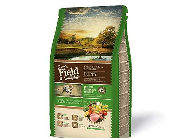 Sam's Field Low Grain Frango e Batata Cachorro 2.5KG