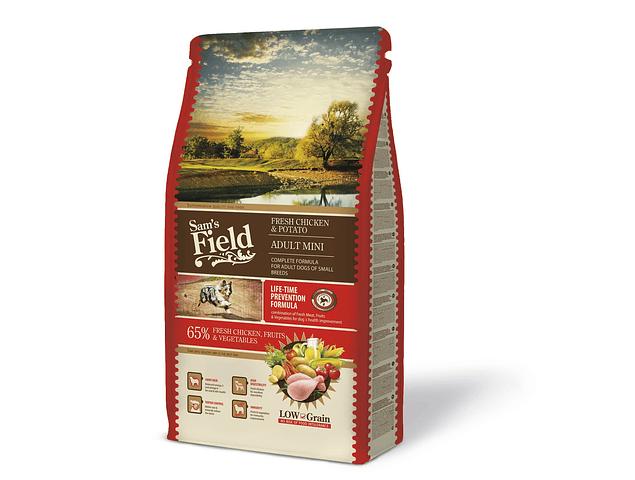 Sam's Field Low Grain Frango e Batata Adulto Mini 8Kg