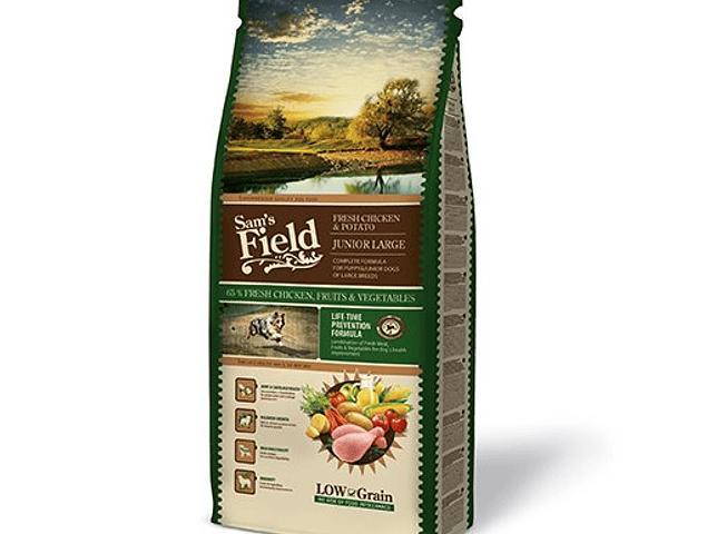 Sam's Field Low Grain Frango e Batata Júnior Grande 13Kg