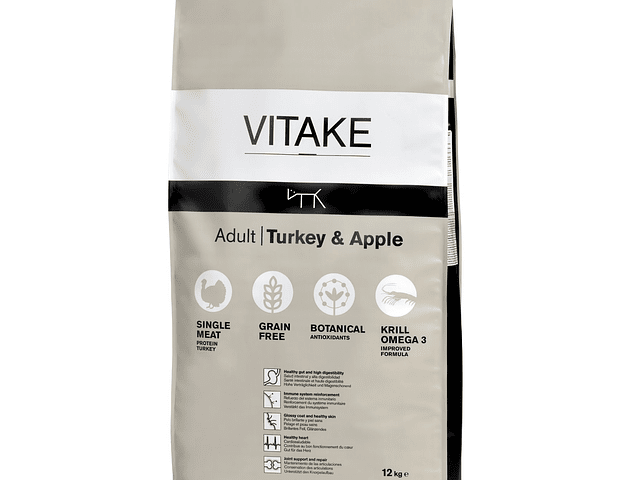 VITAKE TURKEY & APPLE 12 KG GRAIN FREE