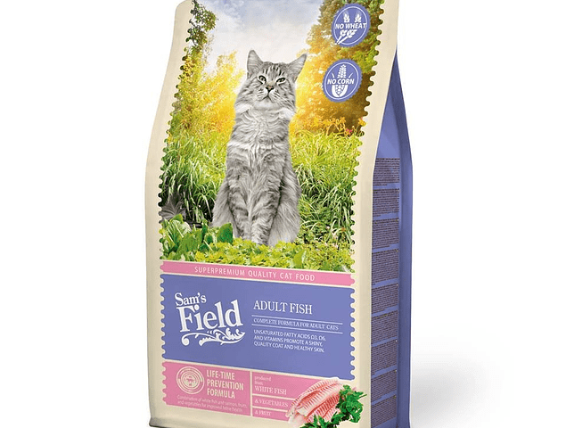Sam's Field Peixe Gato Adulto 2,5Kg