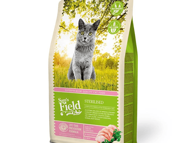 Sam's Field Gato Esterilizado 2,5Kg