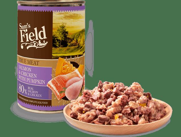 Sam's Field True Meat Salmon & Chicken With Pumpkin 400gr