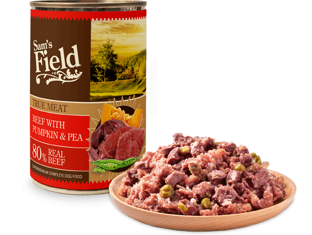 Sam's Field True Meat Beef with Pumpkin & Pea 400gr