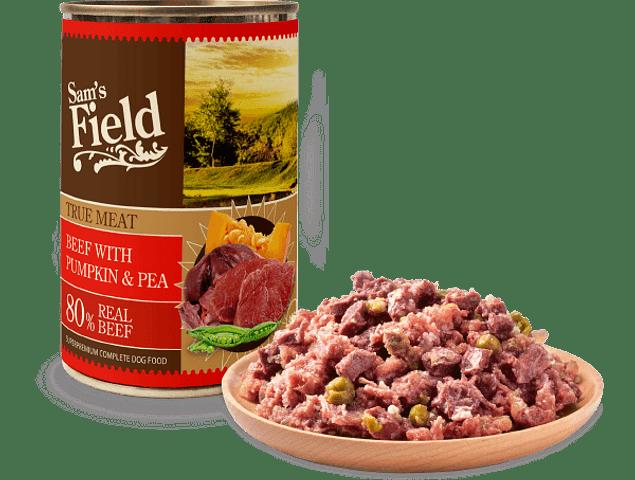 Sam's Field True Meat Bovino, Abóbora e Ervilha 400g
