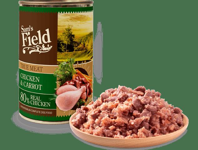 Sam's Field True Chicken Meat & Carrot 400gr