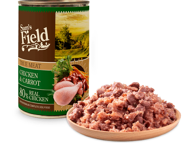 Sam's Field True Meat Frango e Cenoura 400g