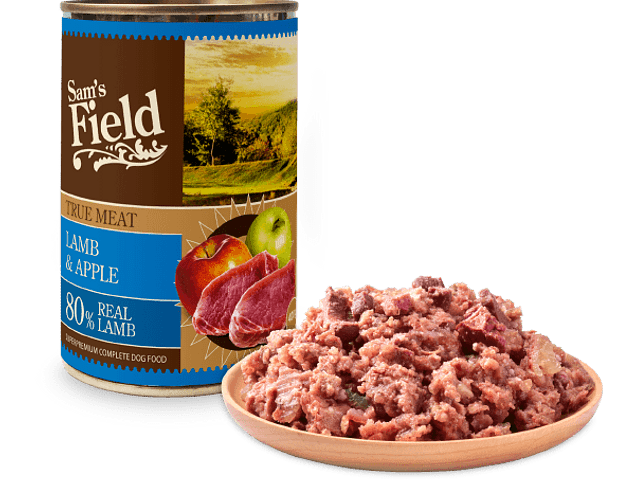 Sam's Field True Lamb Meat & Apple 400gr