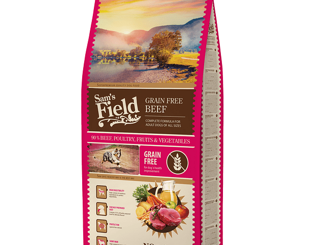 Sam's Field Grain Free Beef 13Kg