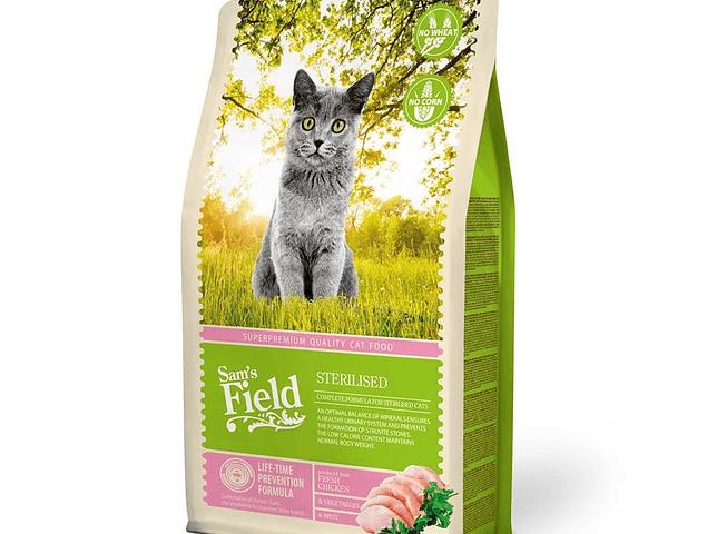 Sam's Field Gato Esterilizado 7,5Kg