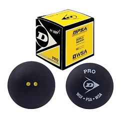 Pelota Squash Dunlop Pro Doble Punto Amarillo 12Xcaja