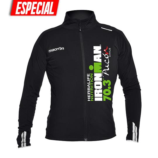 Chaqueta Ciclismo Ironman Pucón 2019 Negra - Logo Color