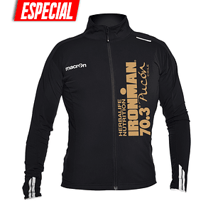 Chaqueta Ciclismo Ironman 2019 Negra - Logo Dorado