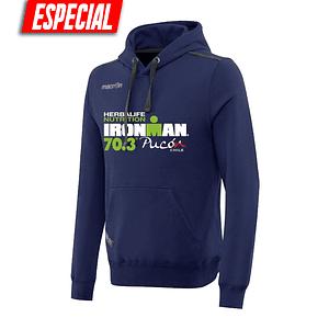 Poleron Capucha Ironman Pucón 2019 Azul