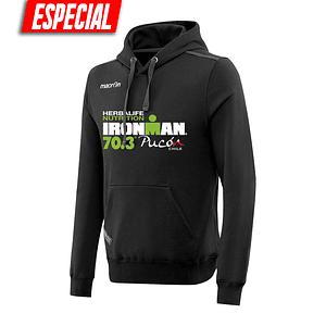 Poleron Capucha Ironman Pucón 2019 Negro