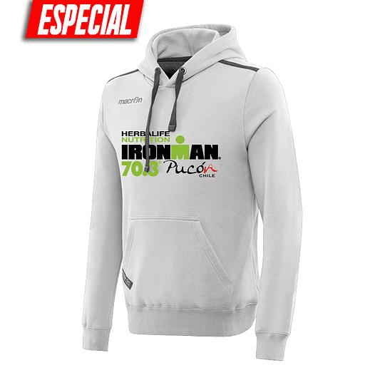 Poleron Capucha Ironman Pucón 2019 Gris