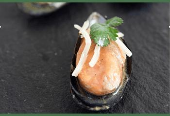 Choritos con jengibre (5p)
