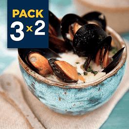 Pack 3x2 - Chorito entero con salsa - Mantequilla Ajo 1/2 Kg