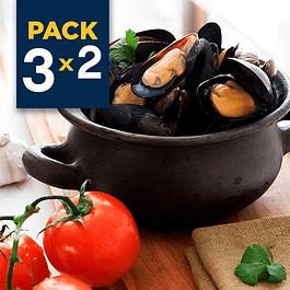 Pack 3x2 - Chorito entero con salsa - Tomate Ajo 1/2 Kg