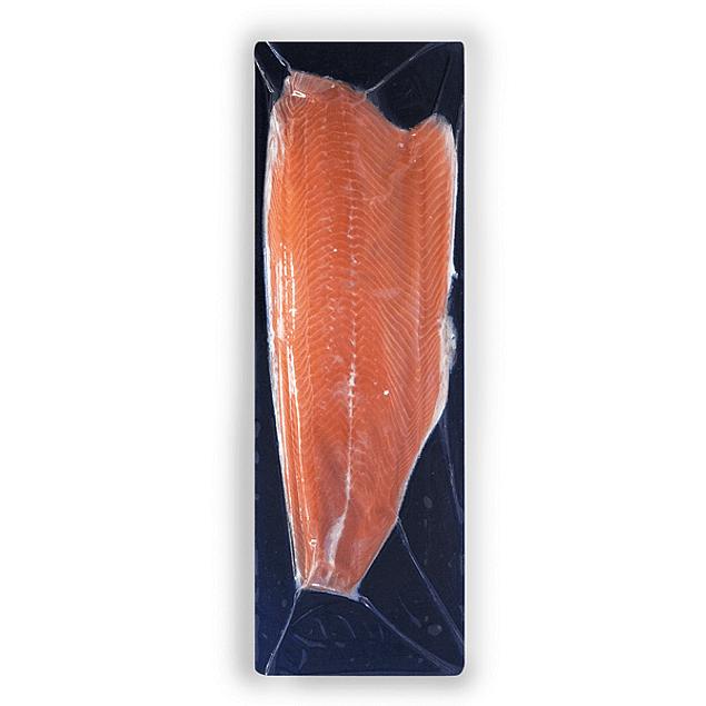 Filete de Salmón Atlántico Natural con Piel - Trim D - entre 1,001 kg y 1,100 kg aprox.