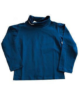 Camisola de Gola Alta Azul