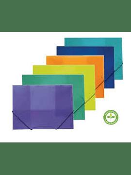 Capa Elásticos A4 Verde Plástico