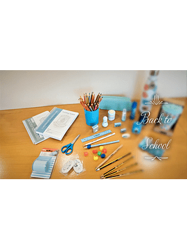 Conjunto de Material Escolar - Jardim de Infância - 3 anos
