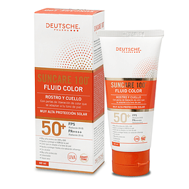 SUNCARE 100 FLUID COLOR ROSTRO Y CUELLO