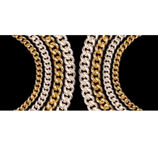Collar Metálico de Cadena Curva 1.4mm