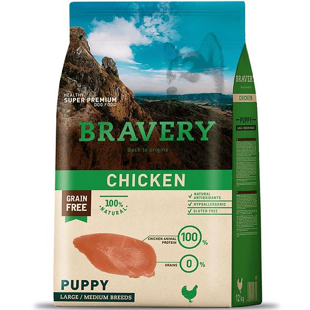 BRAVERY CHICKEN PUPPY LARGE/MEDIUM BREEDS 4KG